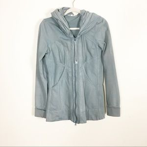 Prairie Underground Greenish-Blue Hooded Zip Up